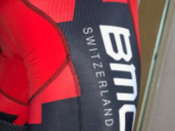 For Sale: PEARL IZUMI BMC TEAM SKIN SUIT ( ONLY IN S SIZE) BMC BAG
