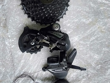 For Sale: 8 speed shimano altus drellaiur and cassette with Slm360 shi