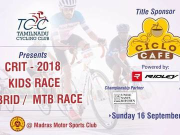 Events:  Tamilnadu Cycling Club Criterium Races 2018 16th September