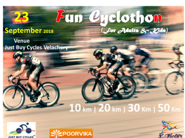 Events:  Fun Cyclothon 23rd September