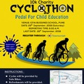 Events: 10K Charity Cyclothon: Pedal for Child Education 29th Sep
