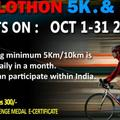 Events: 5K/10K Cyclothon Challenge Oct 1st to 31 2018