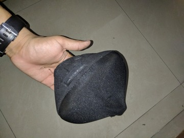 For Sale: 500 MEMORY FOAM SADDLE COVER SIZE M - BLACK