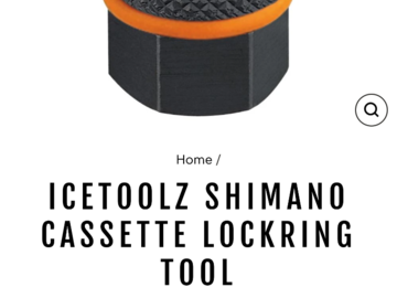 Cycling Content: Required cassette lockring tool
