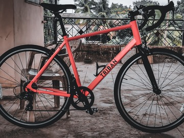 For Sale: Triban RC 100 - Neon Orange - Best entry level road bike