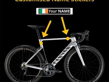 For Sale: Bike Cycle Name stickers with Country Flag