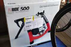 For Sale: Btwin 500 Indoor trainer with front stand and tyre
