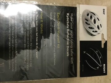 For Sale: RydeSafe Reflective Decals - Modular Kit. Price Rs 900/-